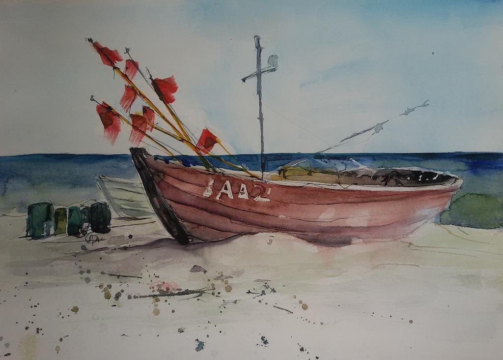 Fischerboot Baabe