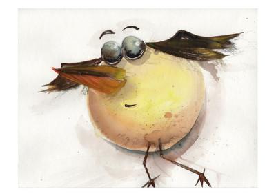 Postkarte Vogel