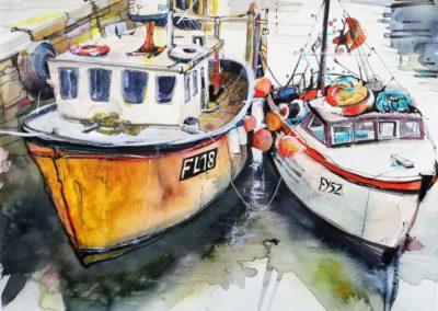 englischer Fischerhafen