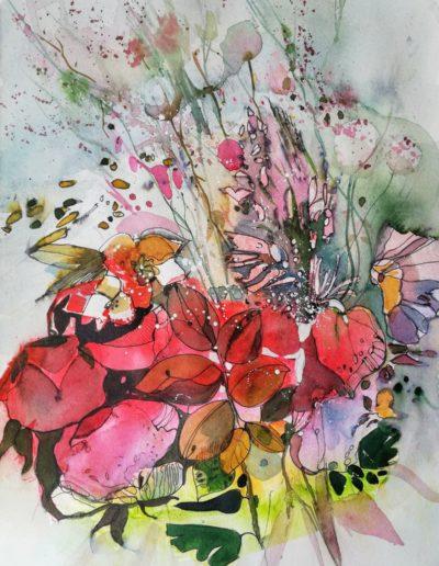 Blumen in Aquarell