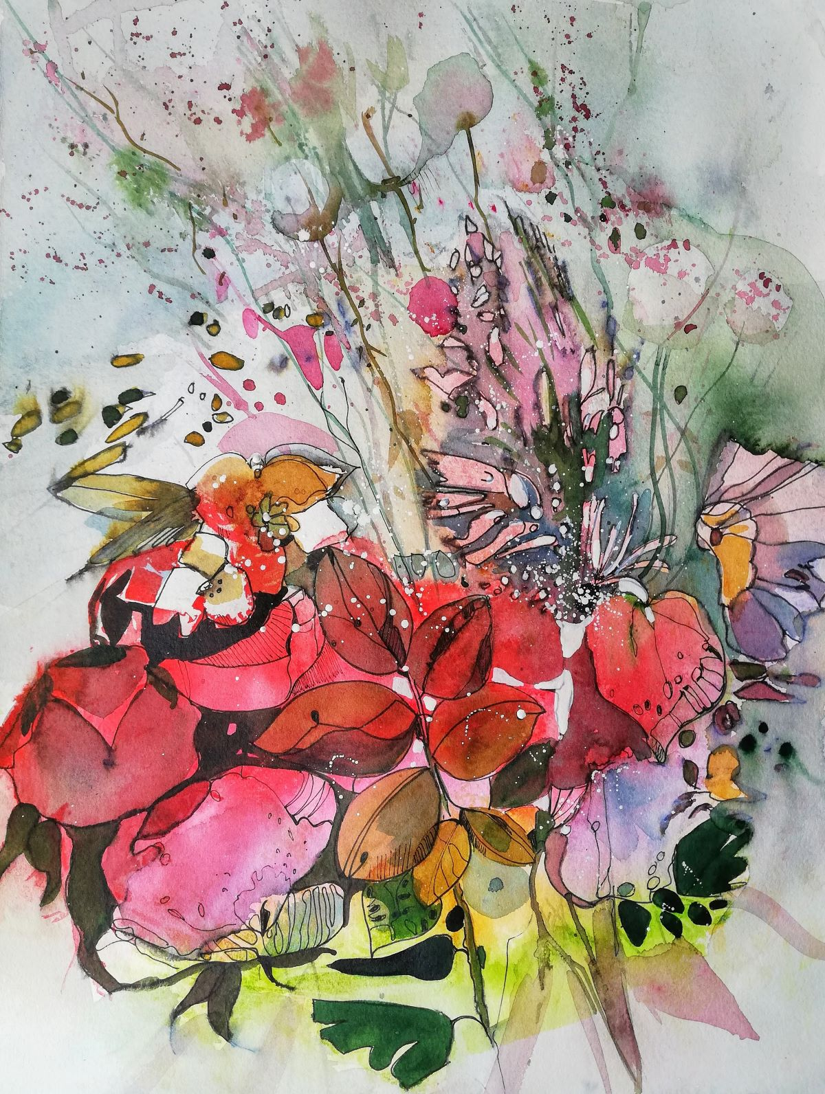 Blumen in Aquarell