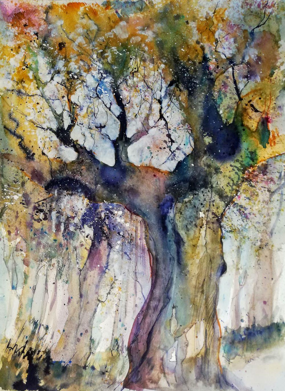 knorriger Baum malerisch
