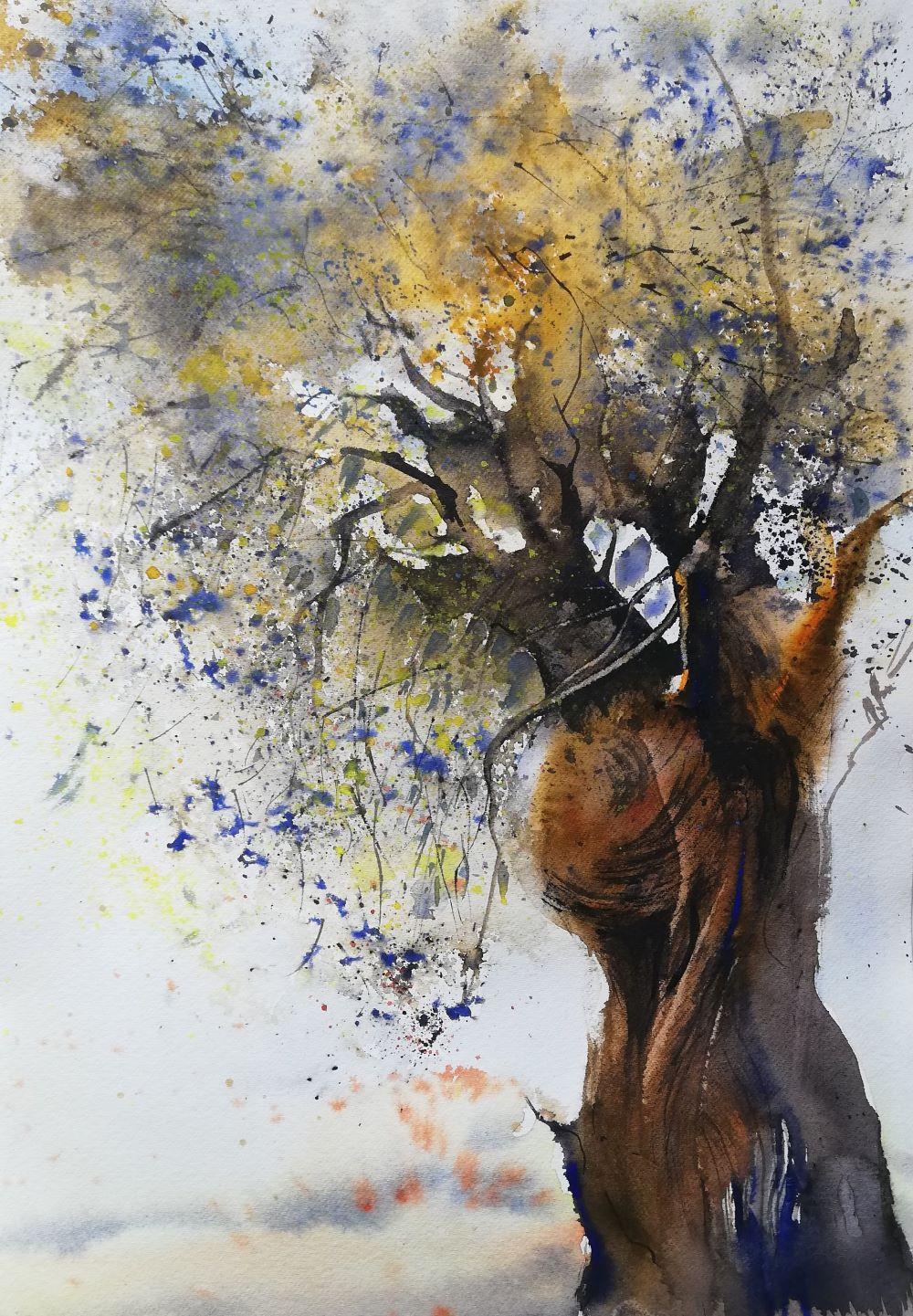Olivenbaum Malerei