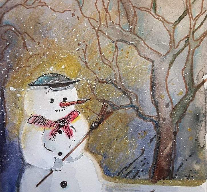 gemalte Weihnachtskarten