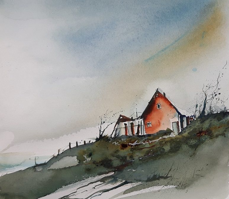Landschafts-Aquarell