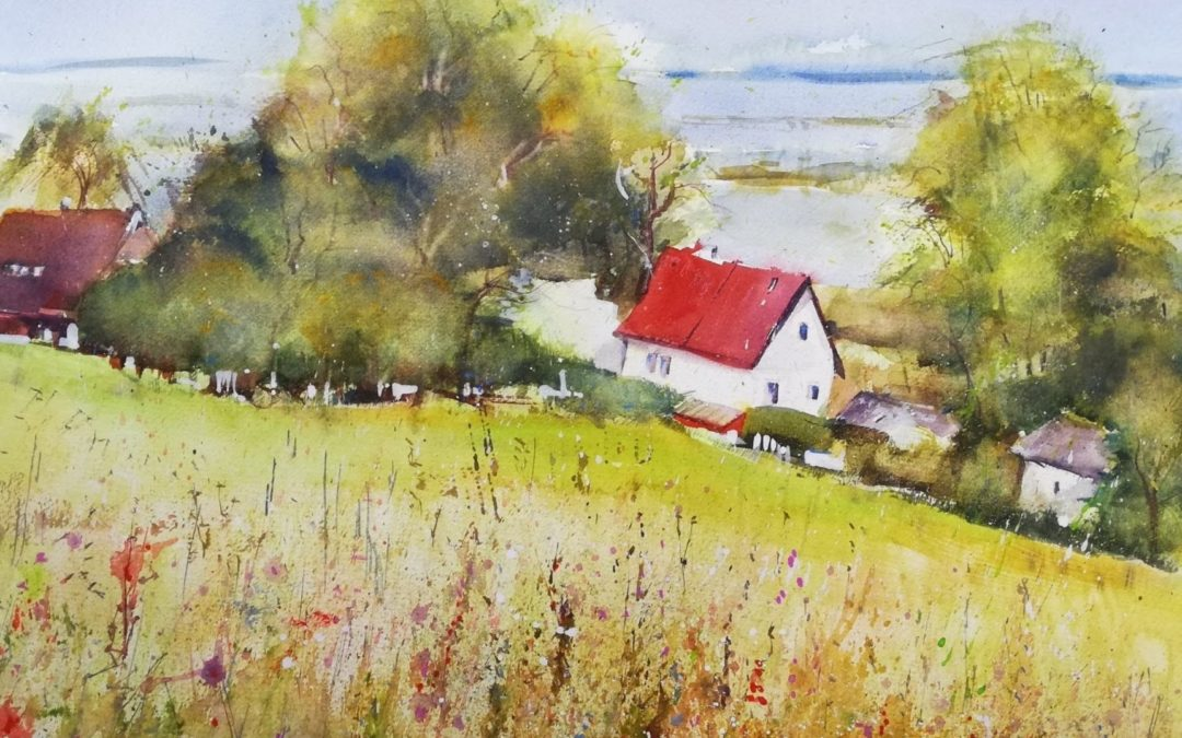 Hiddensee Sommer Aquarell