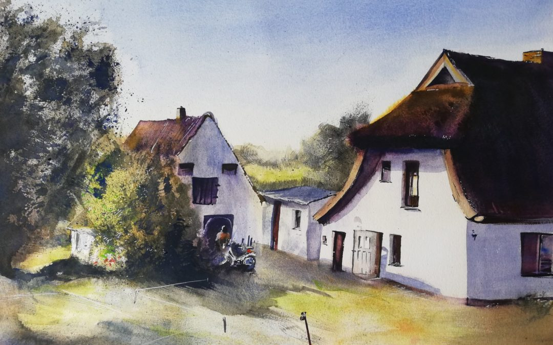 Hiddensee Aquarell Haus