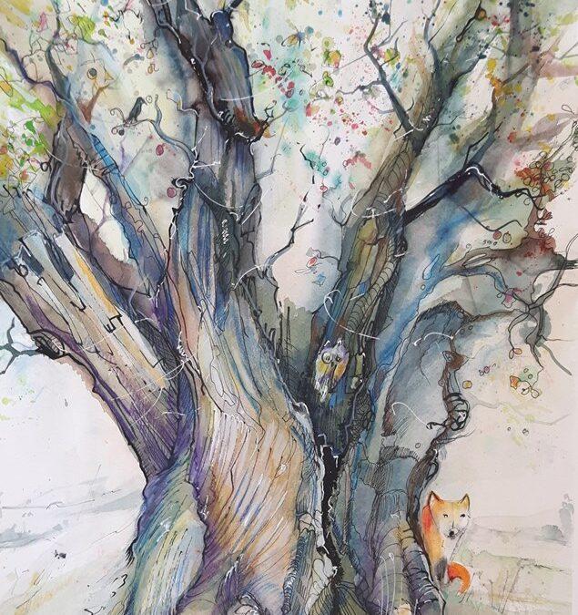 ein sterbender Baum lebt