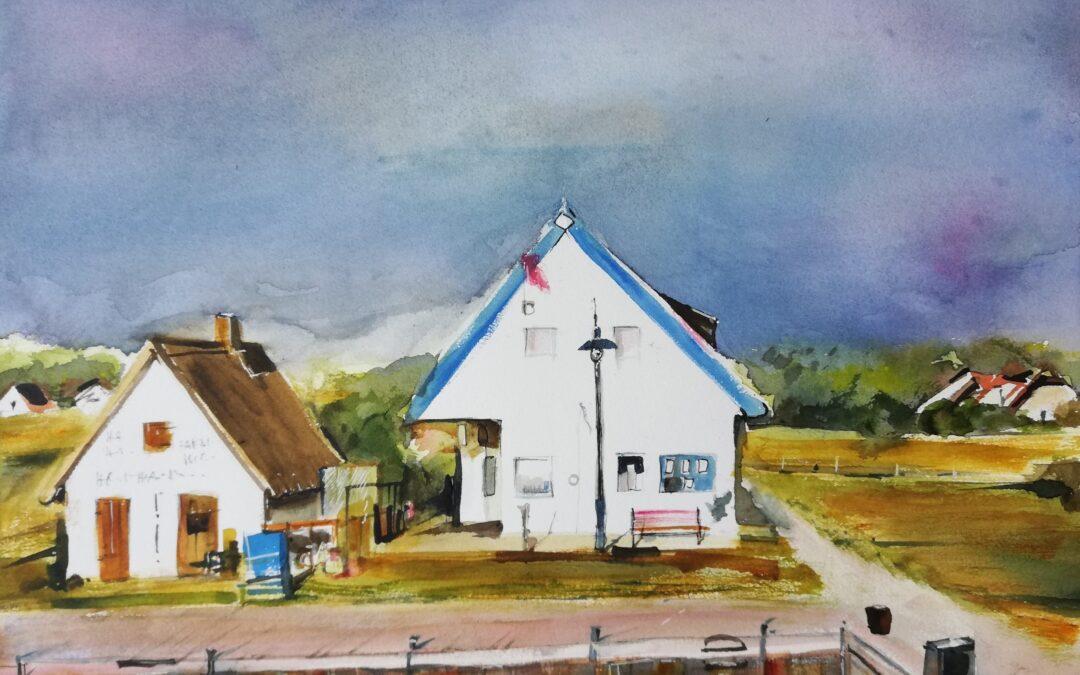 gemalte Erinnerung Hiddensee